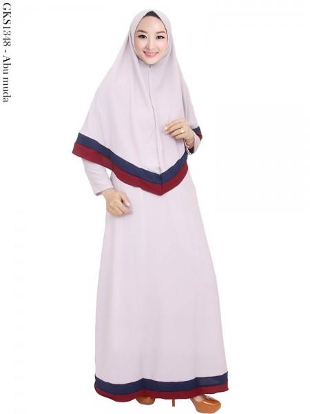 GKS1348 Gamis Syar'i Crepe Hijab Syiria