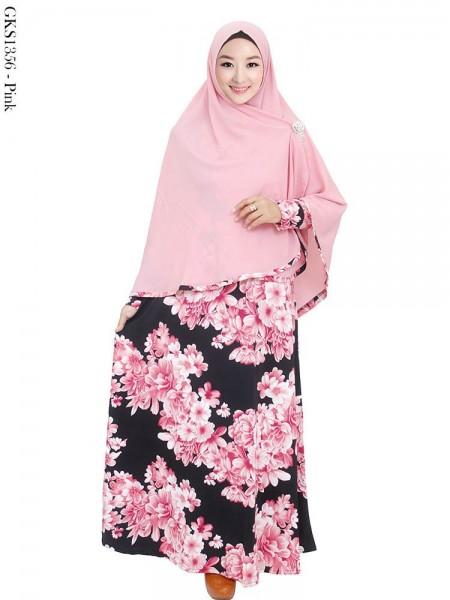 GKS1356 Gamis Syar'i Jersey Hijab Crepe