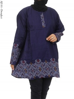 AJ144 Atasan Jumbo Katun List Batik