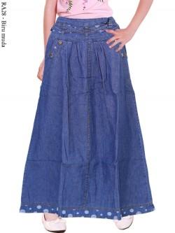 RA28 Rok Jeans Anak List Polka