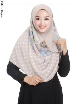 PM41 Pashmina Instan Bubble Pop Motif