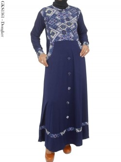 GKS1361 Gamis Jersey Kancing Batik