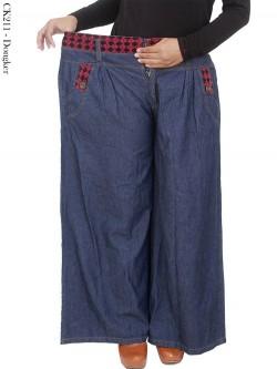 CK211 Celana Kulot Jeans Jumbo