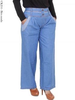 CK214 Celana Kulot Jeans Polos