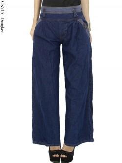 CK215 Celana Kulot Jeans Polos