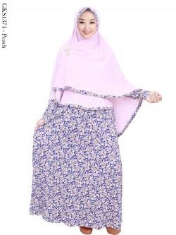 GKS1374 Gamis Syar'i Jersey Hijab Crepe