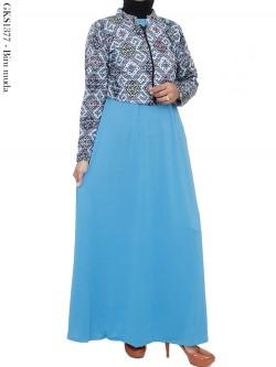 GKS1377 Gamis Jersey Blazer Batik