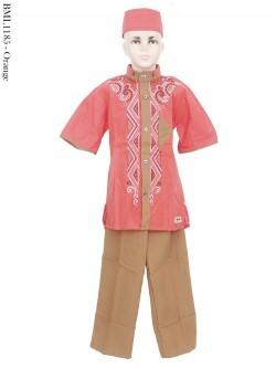 BML1185 (7-12) Baju Koko Anak Bordir