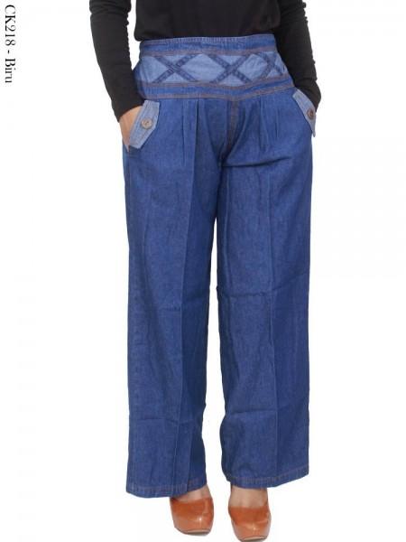 CK218 Celana Kulot Jeans Polos