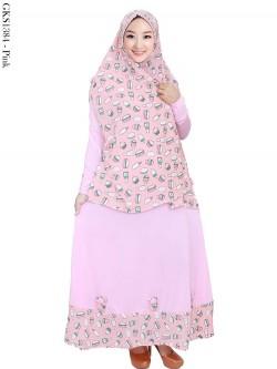 GKS1384 Gamis Syar'i Hijab Cardi Bubble Pop