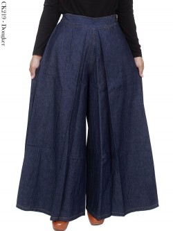 CK219 Celana Kulot Jumbo Jeans Polos