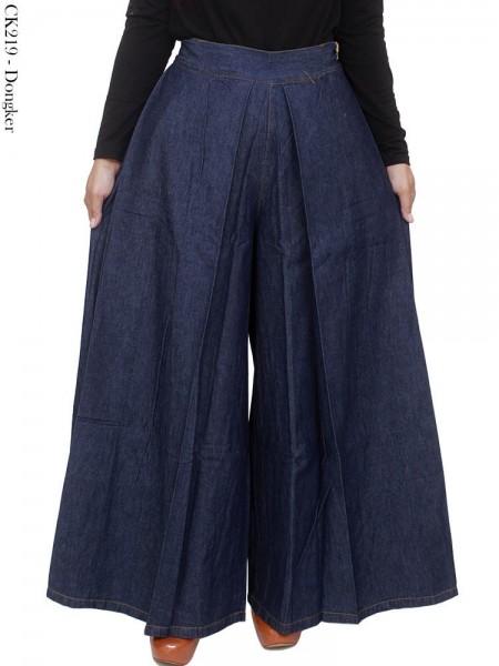 CK219 Celana Kulot Jeans Polos