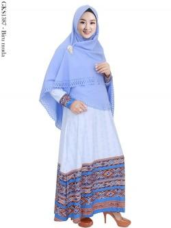 GKS1387 Gamis Syar'i Misby Hijab Laser Press