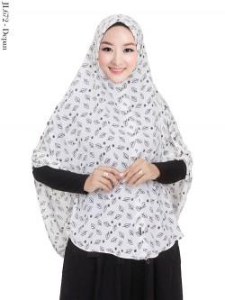 JL672 Jilbab Syar'i Bubble Pop Kancing