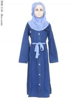 BMC1540 (7-13) Gamis Jeans+Pashmina Anak