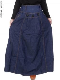 RM1186 Rok Jeans Jumbo Hias Kancing