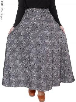 RM1189 Rok Bludru Stretch Batik Emboss