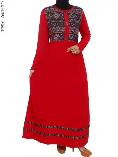 GKS1397 Gamis Jersey Songket