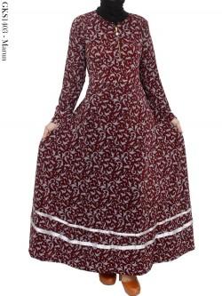 GKS1403 Gamis Jersey Batik List Pita