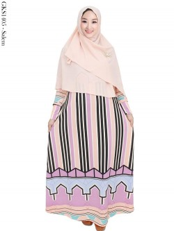 GKS1405 Gamis Misby Hijab Bubble Pop