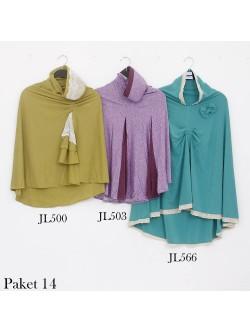 PJ14 Paket Jilbab Syar'i Langsung Jersey Renda
