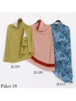 PJ18 Paket Hemat Jilbab Syar'i dan jilbab Ceruti Jersey