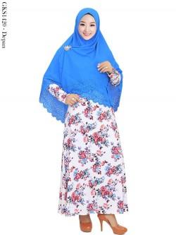 GKS1420 Gamis Syar'i Jersey Hijab Wolfis