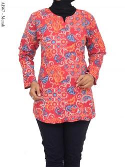 AB67 Blus Batik Katun Stretch