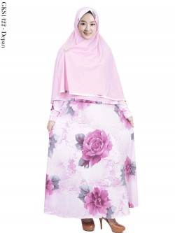 GKS1422 Gamis Syari Jersey Hijab Bubble Crepe