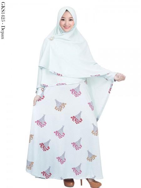 GKS1425 Gamis Syari Jersey Hijab Bubble Crepe