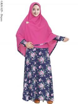 GKS1429 Gamis Syari Jersey Hijab Crepe