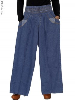 CK234 Celana Kulot Jeans Tali Silang