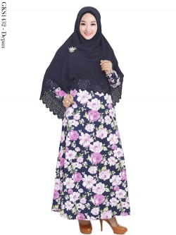 GKS1432 Gamis Syari Misby Hijab Crepe