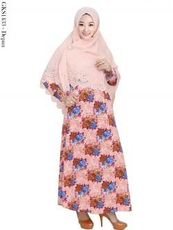 GKS1433 Gamis Syari Misby Hijab Crepe