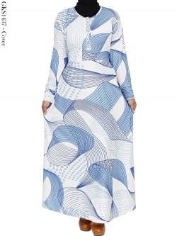 GKS1437 Gamis Jersey Misby Motif