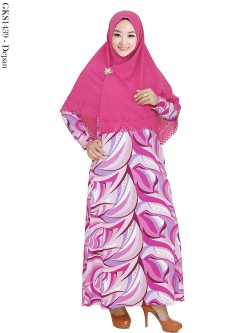 GKS1439 Gamis Syar'i Misby Hijab Crepe