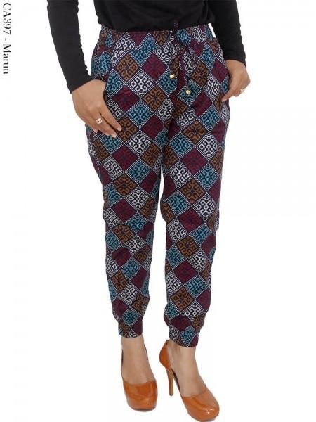 CA397 Jogger Pants Katun Stretch Batik