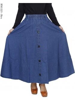 RM1223 Rok Jeans Panjang Payung Kancing