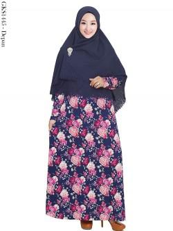 GKS1445 Gamis Syari Misby Hijab Crepe