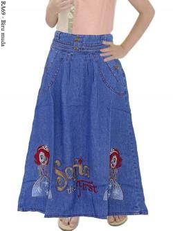 RA69 Rok Jeans Anak Bordir Sofia