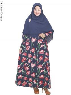GKS1449 Gamis Syari Misby Hijab Crepe