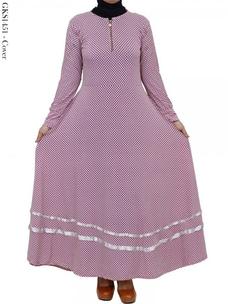 GKS1451 Gamis Jersey Payung Mini Polka