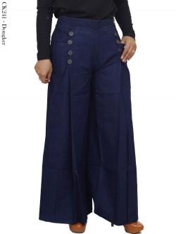 CK241 Celana Kulot Denim Soft Jeans