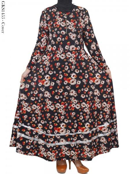 GKS1455 Gamis Jersey Payung Bunga Pita