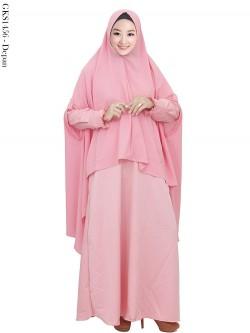 GKS1456 Gamis Syar'i Hijab Cardi Bubble Pop