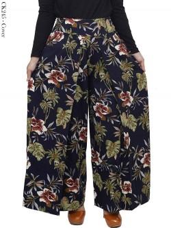 CK245 Celana Kulot Lebar Denim Jeans Import