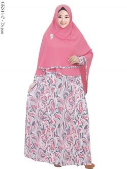 GKS1457 Gamis Syari Misby Hijab Crepe