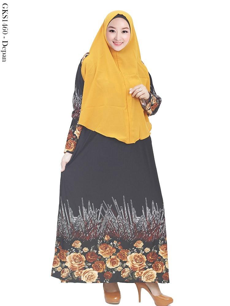 Gamis Syar Misby Hijab Cardi Kaos Polos Katun Anak Kuning