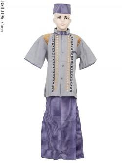 BML1196 (4-6) Baju Koko Anak Celana Sarung