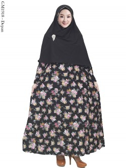 GM1918 Gamis Syar'i Katun Jepang Hijab Bubble